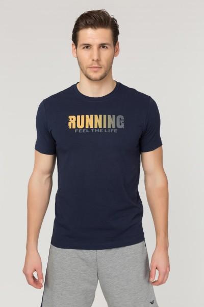BİLCEE - Bilcee Lacivert Pamuklu Erkek T-Shirt FS-1681