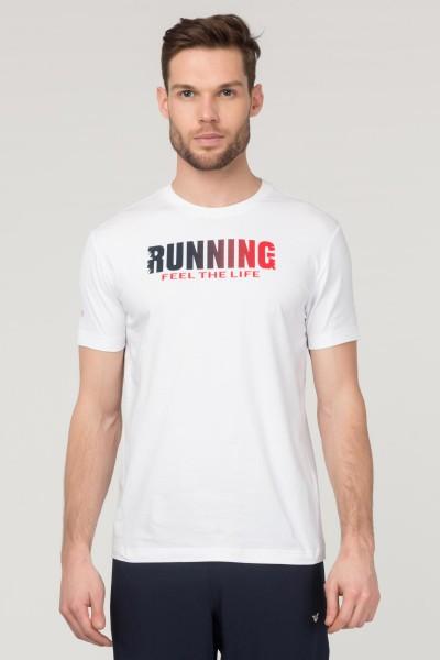 BİLCEE - Bilcee Beyaz Pamuklu Erkek T-Shirt FS-1681