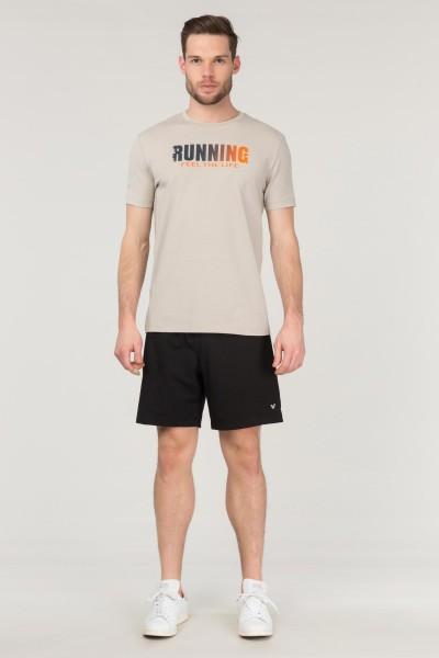 BİLCEE - Bilcee Krem Pamuklu Erkek T-Shirt FS-1681 (1)