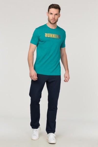 BİLCEE - Bilcee Mavi Pamuklu Erkek T-Shirt FS-1681 (1)