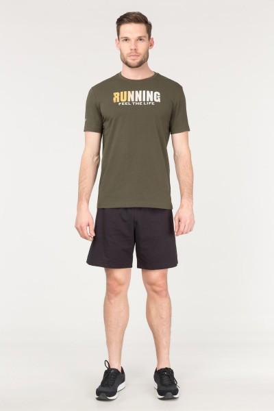 BİLCEE - Bilcee Yeşil Pamuklu Erkek T-Shirt FS-1681 (1)