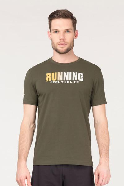 BİLCEE - Bilcee Yeşil Pamuklu Erkek T-Shirt FS-1681