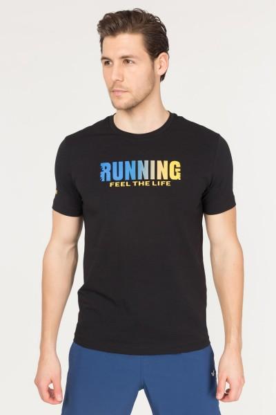 BİLCEE - Bilcee Siyah Pamuklu Erkek T-Shirt FS-1681