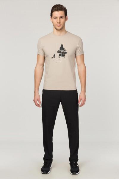 BİLCEE - Bilcee Krem Pamuklu Erkek T-Shirt FS-1682 (1)