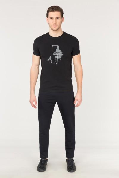 BİLCEE - Bilcee Siyah Erkek Pamuklu T-Shirt FS-1682 (1)