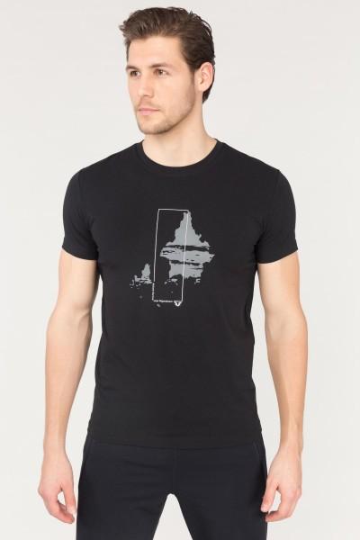 BİLCEE - Bilcee Siyah Erkek Pamuklu T-Shirt FS-1682
