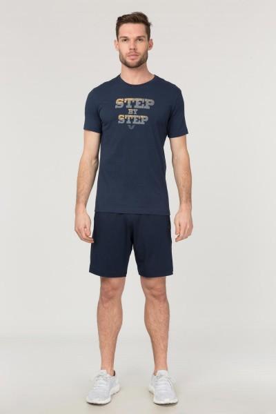 BİLCEE - Bilcee Lacivert Pamuklu Erkek T-Shirt FS-1684 (1)