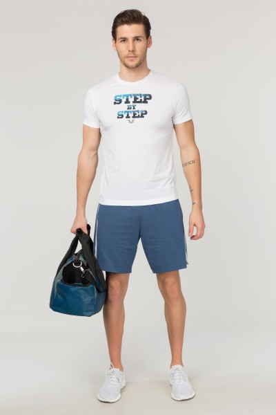 BİLCEE - Bilcee Beyaz Pamuklu Erkek T-Shirt FS-1684 (1)