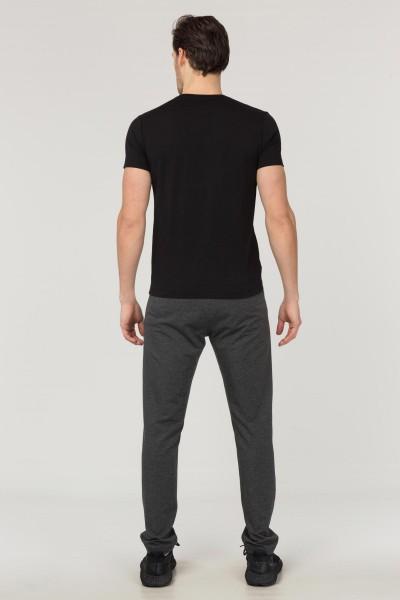 BİLCEE - Bilcee Siyah Pamuklu Erkek T-Shirt FS-1684 (1)