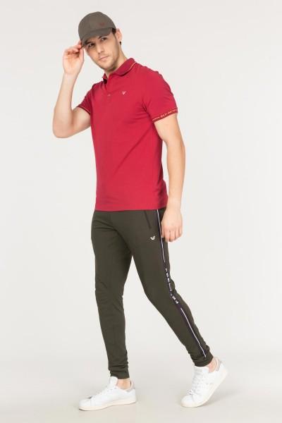 BİLCEE - Bilcee Bordo Polo Yaka Pamuklu Erkek T-Shirt FS-1759 (1)