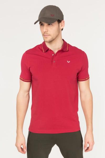 BİLCEE - Bilcee Bordo Polo Yaka Pamuklu Erkek T-Shirt FS-1759