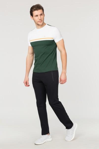 BİLCEE - Bilcee Yeşil Pamuklu Erkek T-Shirt FS-1762 (1)