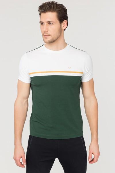 BİLCEE - Bilcee Yeşil Pamuklu Erkek T-Shirt FS-1762
