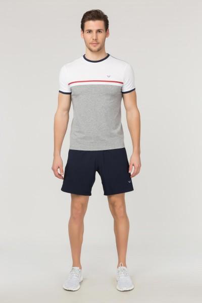 BİLCEE - Bilcee Gri Pamuklu Erkek T-Shirt FS-1762 (1)