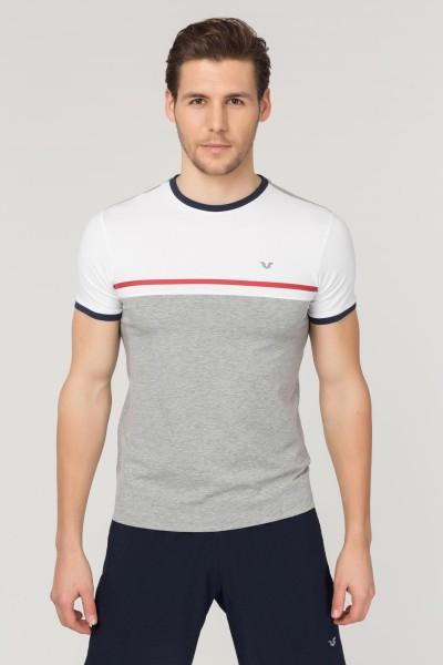 BİLCEE - Bilcee Gri Pamuklu Erkek T-Shirt FS-1762