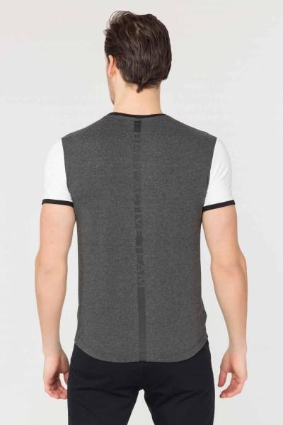 BİLCEE - Bilcee Antrasit Pamuklu Erkek T-Shirt FS-1762 (1)