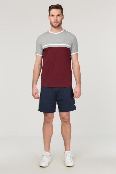 BİLCEE - Bilcee Bordo Pamuklu Erkek T-Shirt FS-1762 (1)