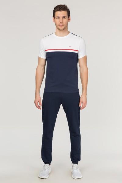 BİLCEE - Bilcee Lacivert Pamuklu Erkek T-Shirt FS-1762 (1)