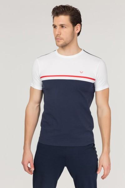 BİLCEE - Bilcee Lacivert Pamuklu Erkek T-Shirt FS-1762
