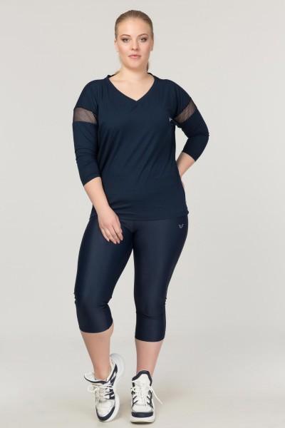 BİLCEE - Bilcee Büyük Beden Lacivert Kadın Antrenman T-Shirt FS-1769 (1)