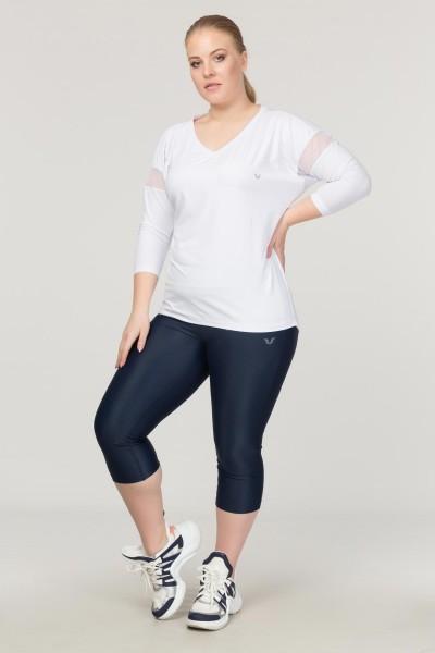 BİLCEE - Bilcee Büyük Beden Beyaz Kadın Antrenman T-Shirt FS-1769 (1)