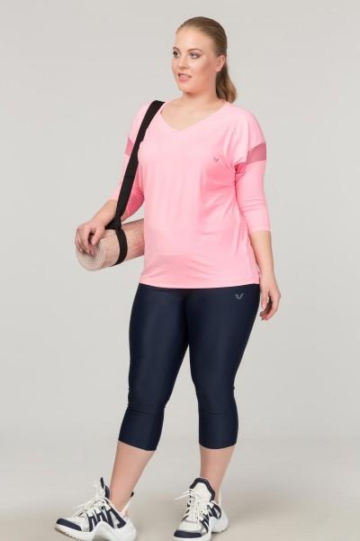 BİLCEE - Bilcee Büyük Beden Pembe Kadın Antrenman T-Shirt FS-1769 (1)