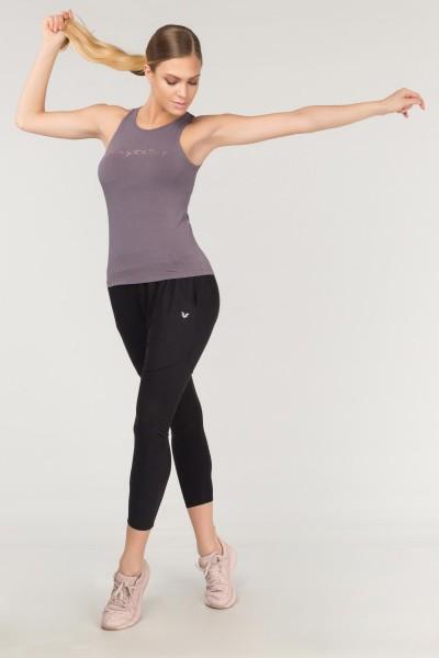 BİLCEE - Bilcee Mor Pamuklu Yoga Kadın Atleti FS-4018 (1)