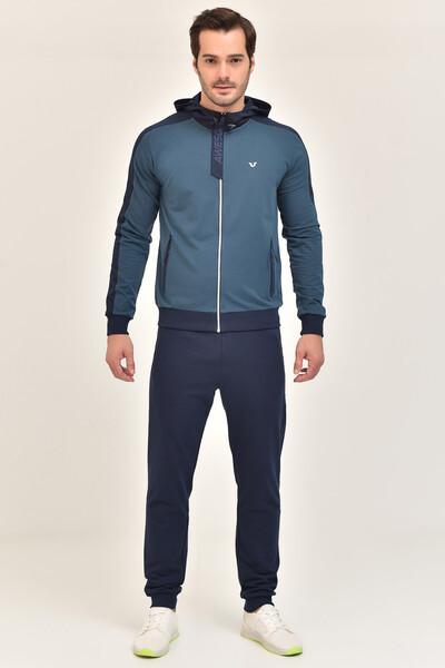 BİLCEE - Bilcee Mavi Pamuk/Poly Erkek Eşofman Takımı EW-6101