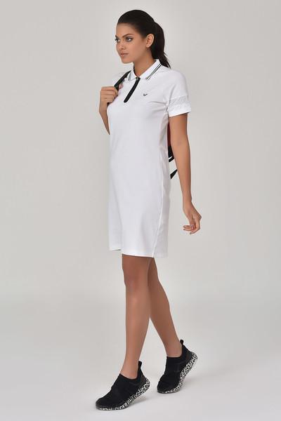 BİLCEE - Bilcee Beyaz Kadın Elbise GS-8027 (1)