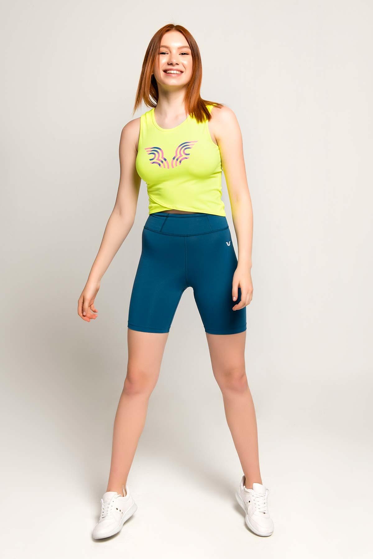Bilcee Sarı Kadın Atlet FS-8062 BİLCEE