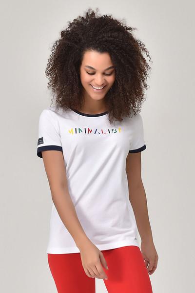 BİLCEE - Bilcee Beyaz Kadın T-shirt GS-8070