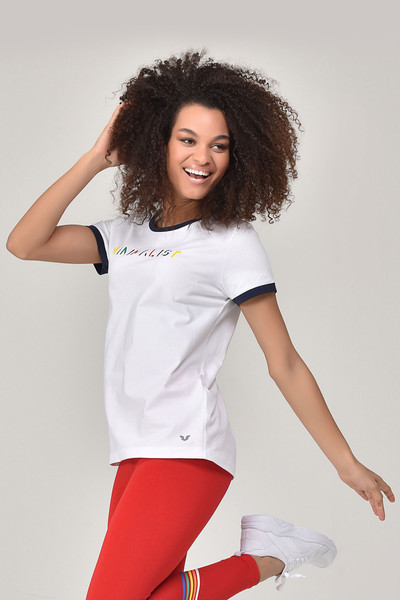 BİLCEE - Bilcee Beyaz Kadın T-shirt GS-8070 (1)