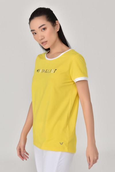 BİLCEE - Bilcee Sarı Kadın T-Shirt GS-8070