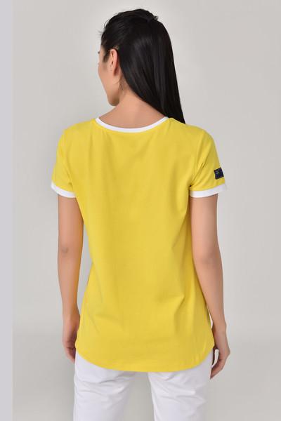 BİLCEE - Bilcee Sarı Kadın T-Shirt GS-8070 (1)