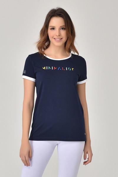 BİLCEE - Bilcee Lacivert Kadın T-shirt GS-8070