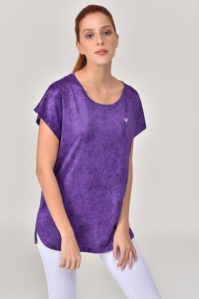 BİLCEE - Bilcee Mor Kadın T-Shirt GS-8075 (1)