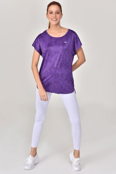 BİLCEE - Bilcee Mor Kadın T-Shirt GS-8075