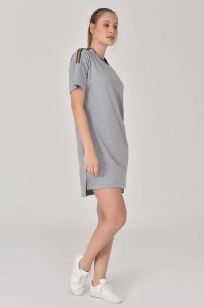 BİLCEE - Bilcee Gri Kadın Elbise GS-8077 (1)