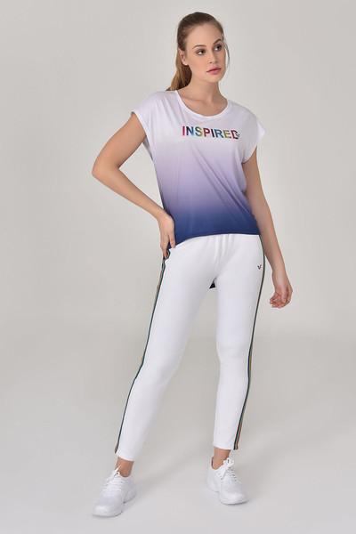 BİLCEE - Bilcee Lacivert Kadın T-Shirt GS-8078 (1)