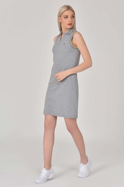 BİLCEE - Bilcee Gri Kadın Elbise GS-8079 (1)