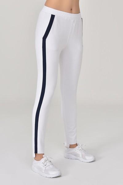 BİLCEE - Bilcee Beyaz Kadın Pantolon GS-8096 (1)
