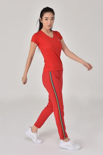 BİLCEE - Bilcee Kırmızı Kadın Eşofman Altı GS-8099 (1)