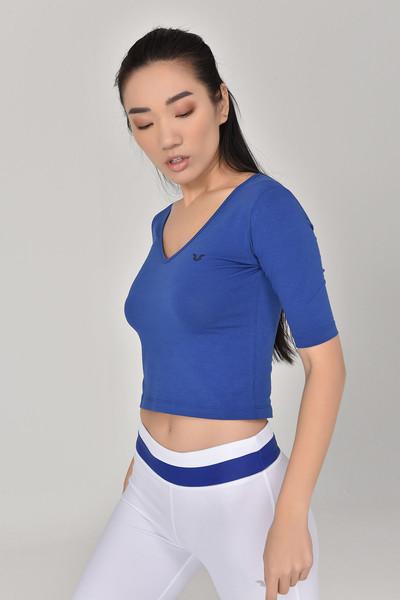 - Bilcee Mavi Kadın Yoga T-Shırt GS-8105 (1)