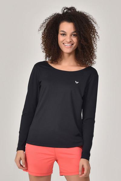 BİLCEE - Bilcee Siyah Kadın Uzun Kol T-Shirt GS-8108 (1)