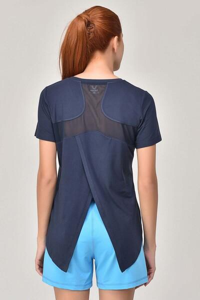 BİLCEE - Bilcee Lacivert Sırt Detaylı Kadın T-Shirt GS-8110 (1)