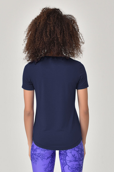 BİLCEE - Bilcee Lacivert Büyük Beden Kadın T-Shirt GS-8131 (1)
