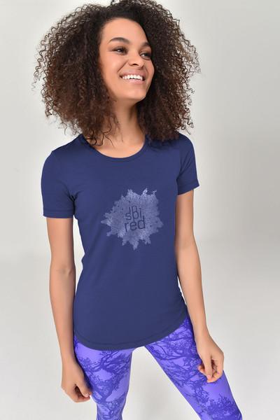 BİLCEE - Bilcee Lacivert Büyük Beden Kadın T-Shirt GS-8131