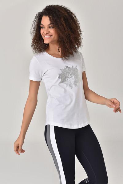 BİLCEE - Bilcee Beyaz Büyük Beden Kadın T-Shirt GS-8131 (1)