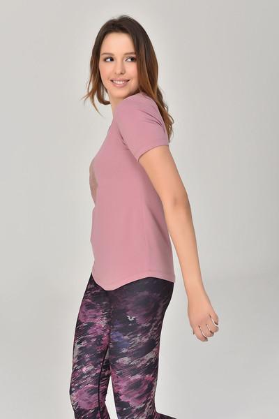 BİLCEE - Bilcee Pembe Büyük Beden Kadın T-Shirt GS-8131 (1)