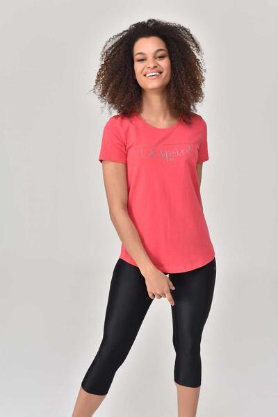 BİLCEE - Bilcee Kırmızı Büyük Beden Kadın T-Shirt GS-8132 (1)